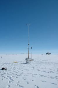 Automatic weather station operating at Summit, June 2015